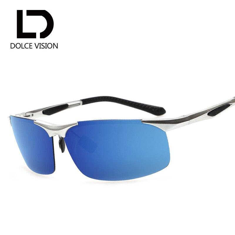 a3eb49cd3 دولتشي الليلية بارد القيادة نظارات الشمس للرجال السائقين نظارات مضادة للوهج  الاستقطاب النظارات الشمسية الألومنيوم المغنيسيوم UV400 ظلال