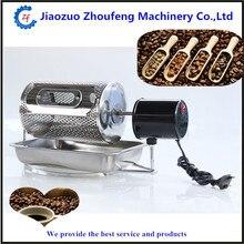 Для домашнего использования кофе жаровня барабана для продажи электрический из нержавеющей мини обжарки кофе машины ZF