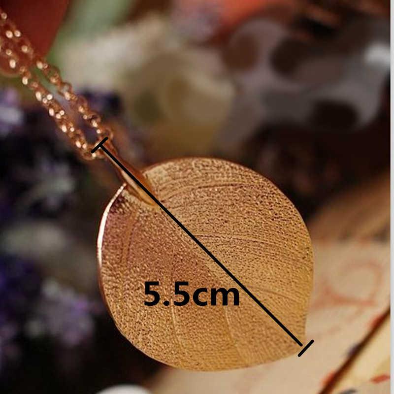 X73 Mode Schmuck Gold Farbe Blatt Anhänger Halskette Für Frauen Exquisite Lange Halskette Korean Stil Großhandel Pullover Kette Geschenk