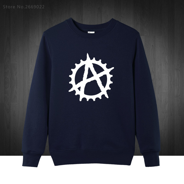 Anarchy Cog BMX New Fashion Men's Hoodies Fanny Men Sweatshirt Cotton Man Clothing Free Shipping Plus Size 2016 Autumn Winter
