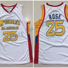 1e76e6509  25 Derrick Rose McDonald s All American Retro Basketball Jersey Mens  Stitched Custom Any Number Name