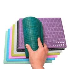 A3 A4 maty do cięcia pcv prostokąt linie siatki mata do cięcia samogojąca deska narzędzie tkanina skórzana prace ręczne z papieru narzędzia DIY płyta Pad