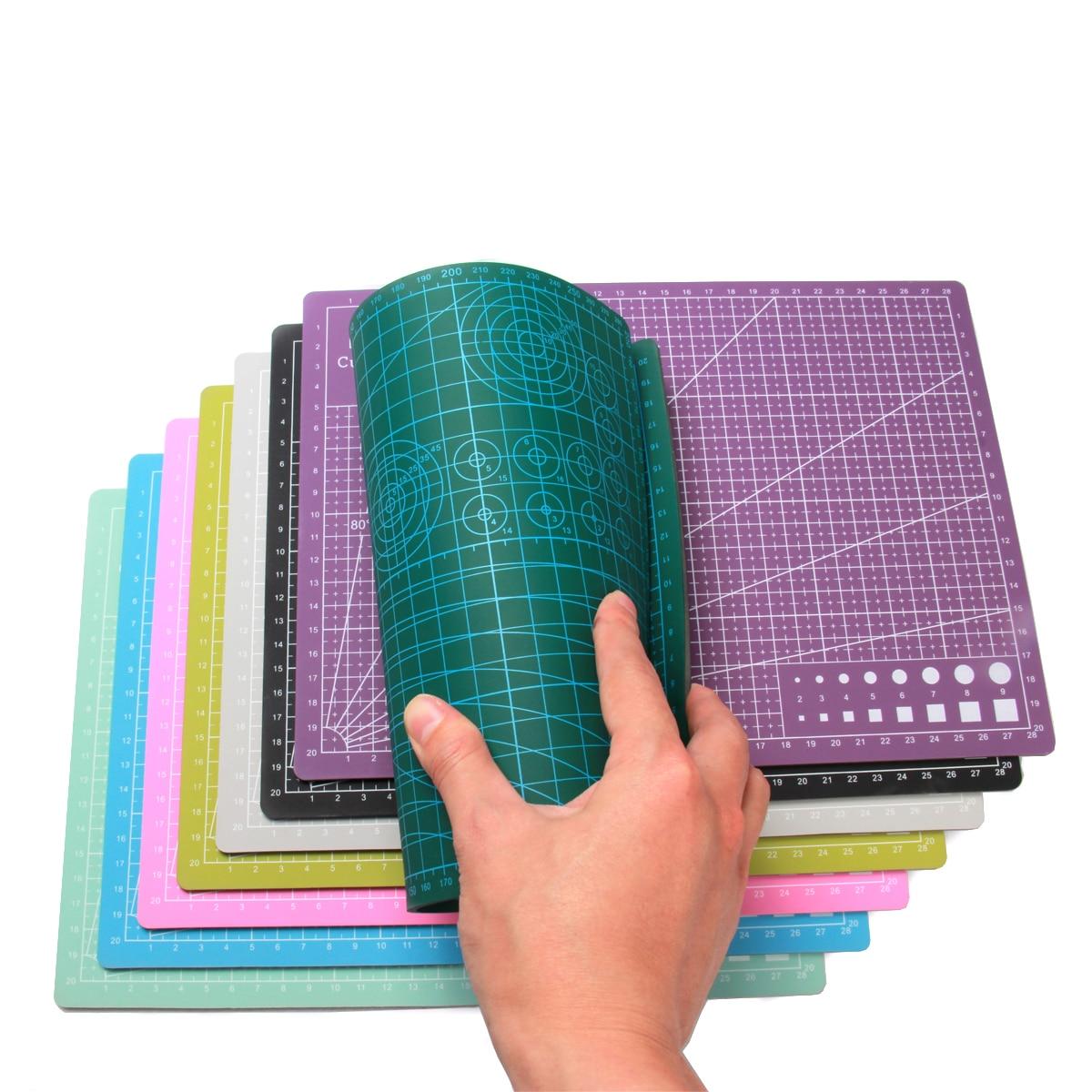 A3 a4 esteiras de corte pvc retângulo grade linhas auto cura placa corte ferramenta tecido couro artesanato ferramentas diy placa almofada
