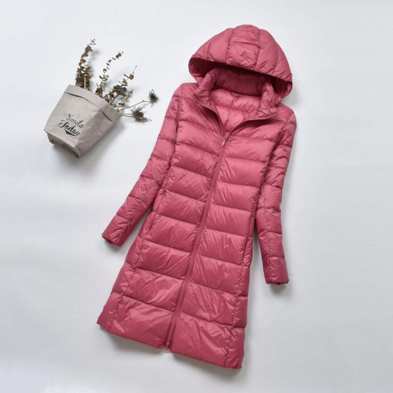 gris rose Femmes Bas Vers pourpre À 2018 D'hiver kaki Nouvelle Coréenne Le Noir Version Capuchon Veste rouge Poids Lumière nxx1q6wa8v