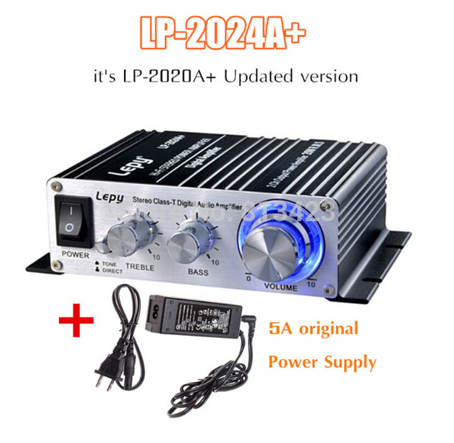 Special Price Lepy LP-2024A+ HIFI stereo Class-T digital audio car amplifier+5A power supply