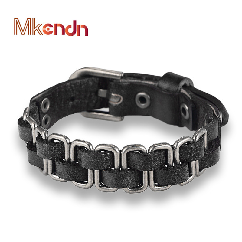 MKENDN New Arrival High Quality Multilaye Hand-knitted Braid Leather Bracelet men Friendship Charm Bracelets Jewelry