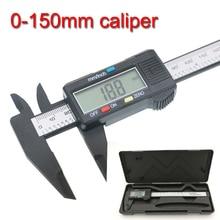 Sale New Arrival 150mm 6 inch LCD Digital Electronic Carbon Fiber Vernier Caliper Gauge Micrometer Measuring Tool