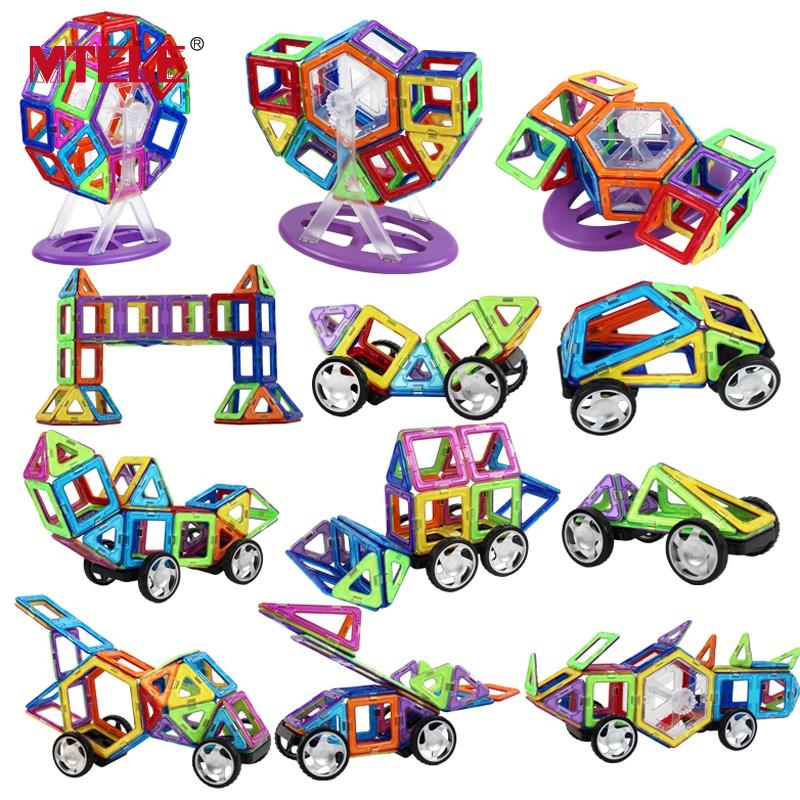MTELE Brand High Quality Magnetic 119/169pcs magnetic designer Building Toy Enlighten Plastic Educational Toddlers magnetic 77 82 89pcs magnetic kits building models toy with windmill car enlighten plastic educational for toddlers yoyo diy