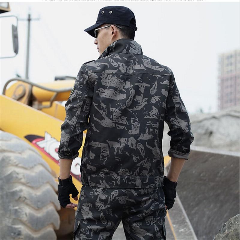 Noir Camouflage Militaire Armée Tactique Uniforme Étanche Hommes Vêtements de Chasse Veste + Pantalon Ensemble Costume Plus La Taille 4XL - 3