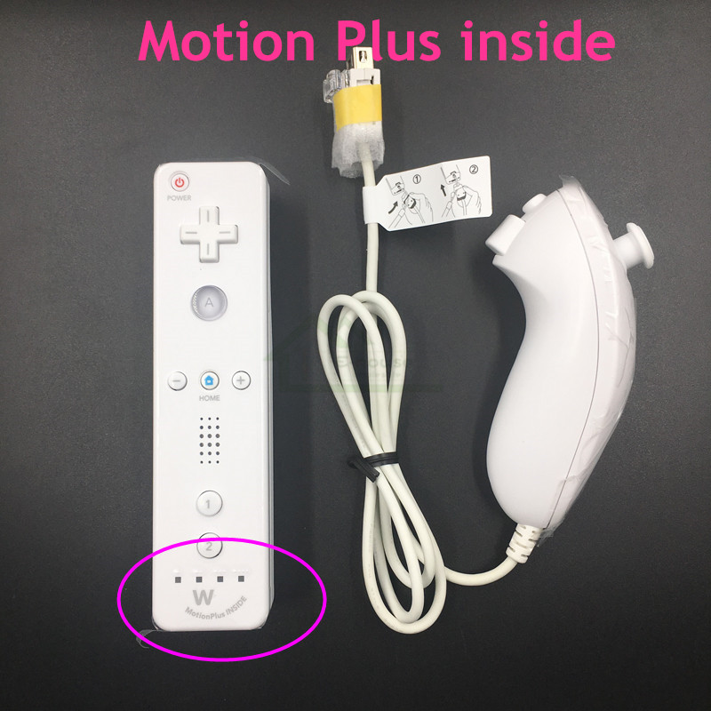 Original 2-in-1 Left Right Wireless Remote Controller+Nunchuk Control for Nintendo Wii Motion Plus game console