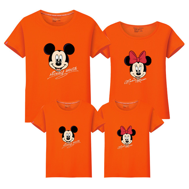 Family t-shirts mickey minnie family look  clothes mother son outfits