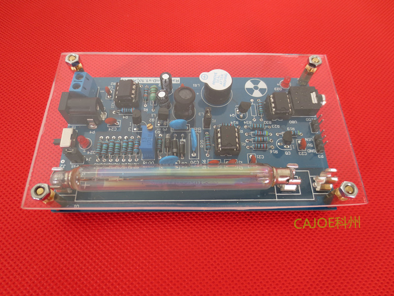 Open source Geiger counter package, nuclear radiation, Miller tube, GM tube detector, radiation gamma ray