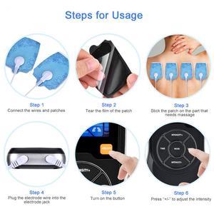 Image 2 - 十 EMS スマート筋肉 Electrostimulator 理学療法音声マッサージ 6 モード 15 強度疼痛緩和 USB 減量痩身