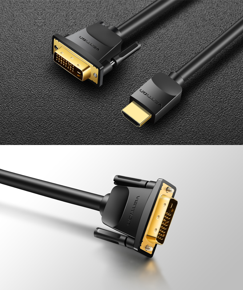 HDMI to DVI Cable 1m 2m 3m 5m DVI-D 24+1 Pin