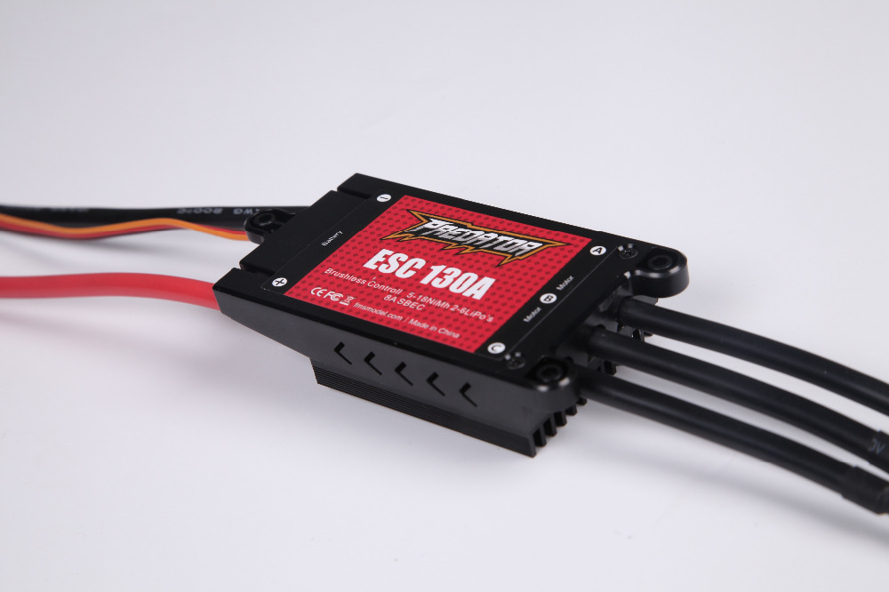 Predator ESC 130A with 8A SBEC Speed Controller Brushless Support 2s - 4S - 6S for RC Airplane Model Plane Spare Part стоимость