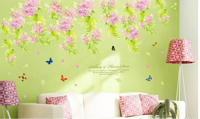 vintage flower wall shelf poster painting home decoration wall paper ...