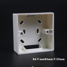5pcs Type 86 Depth 33mm Light Bottom Box Switch Socket Box PVC Junction Wiring Wall Mount Switch Box