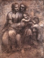 Leonardo Da Vinci Oil Painting Reproduction,Virgin and Child reproduction, Fast Free Shipping, 100% Handmade