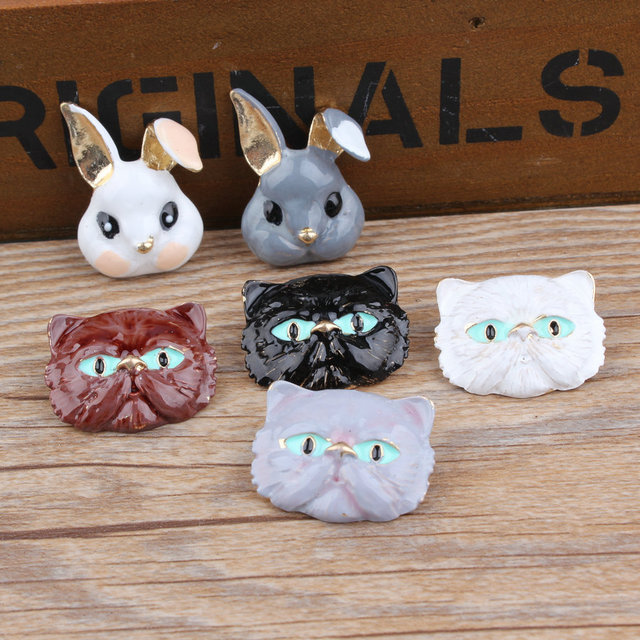 Hair rope pendant accessories DIY Korean jewelry accessories cat head rabbit headlace head rope small pendant