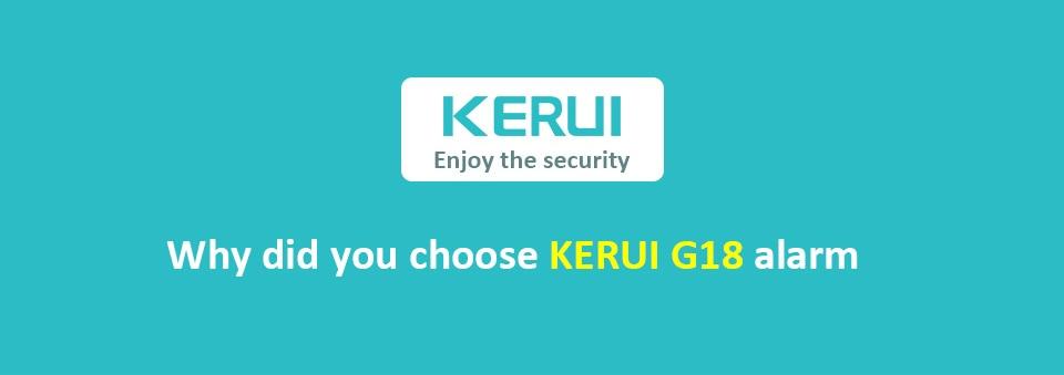 KERUI G18 Wireless Home GSM Security Alarm System DIY Kit APP Control With Auto Dial Motion Detector Sensor Burglar Alarm System 10