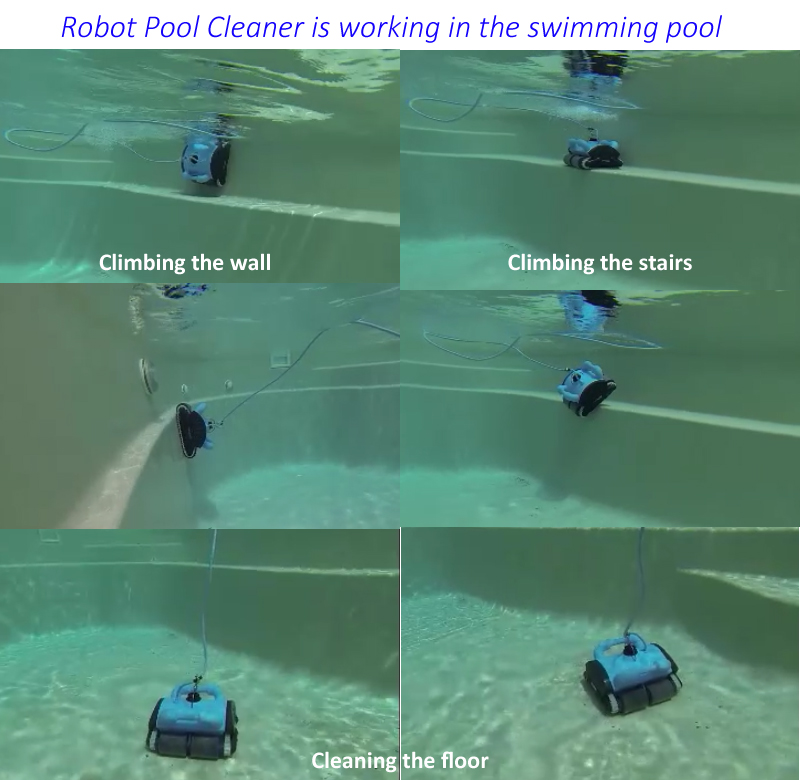 Automatski čistač bazena s funkcijom penjanja po zidu, daljinsko - Kućanski aparati - Foto 6