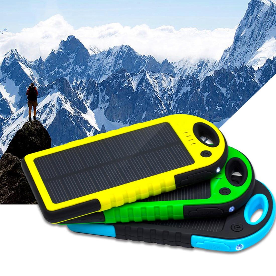 Solar Energy Power Bank Orange, 12000mah Transer DIY Portable 12000mAh Dual USB PowerCore Battery Waterproof Box Case with LED Light