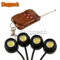 4X Car LED Strobe Eagle Eye with Wireless Remote For Jeep Renegade Wrangler JK Grand Cherokee For Volvo XC90 XC60 S90 S60 V70 S4
