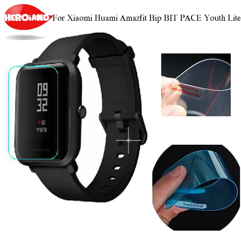 2pcs For Amazfit Bit Ultra Thin Antiexplosion TPU Screen Protector Film For Xiaomi Huami Amazfit Bip PACE Lite Youth Smart Watch ...