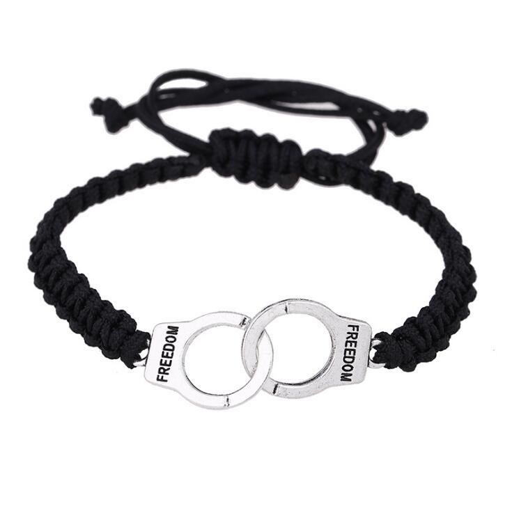 Vintage Adjustable Handmade Bracelet Men Jewelry Handcuffs Charm Bracelet for Women Accessories Friendship Girl Couple Bracelets