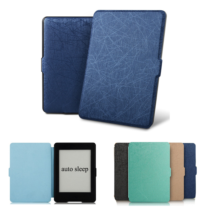for Kindle Paperwhite 1 2 3 Case Ultra Thin Business PU Leather ebook Cover Case Smart Flip Protective Sleeve Auto Sleep slim leather ebook case for kindle paperwhite 3 2 1 hand strap folding hard shell flip cover crazy horse lines wake sleep