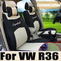Cubierta de asiento de coche para volkswagen passat R36 asiento cojín de tela de malla coche cubre para los coches personalizados para asientos de coche cubre completa conjunto