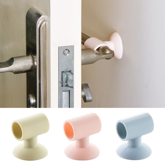 1pc Doorknob Wall Mute Crash Pad Cushion Cabinet Door Handle Lock Silencer Attached Silicone Anti- & 1pc Doorknob Wall Mute Crash Pad Cushion Cabinet Door Handle Lock ...