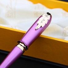 Перьевая ручка PICASSO 986 светильник Светло фиолетовым и золотым тонким наконечником с капюшоном в оригинальной коробке Бесплатная доставка