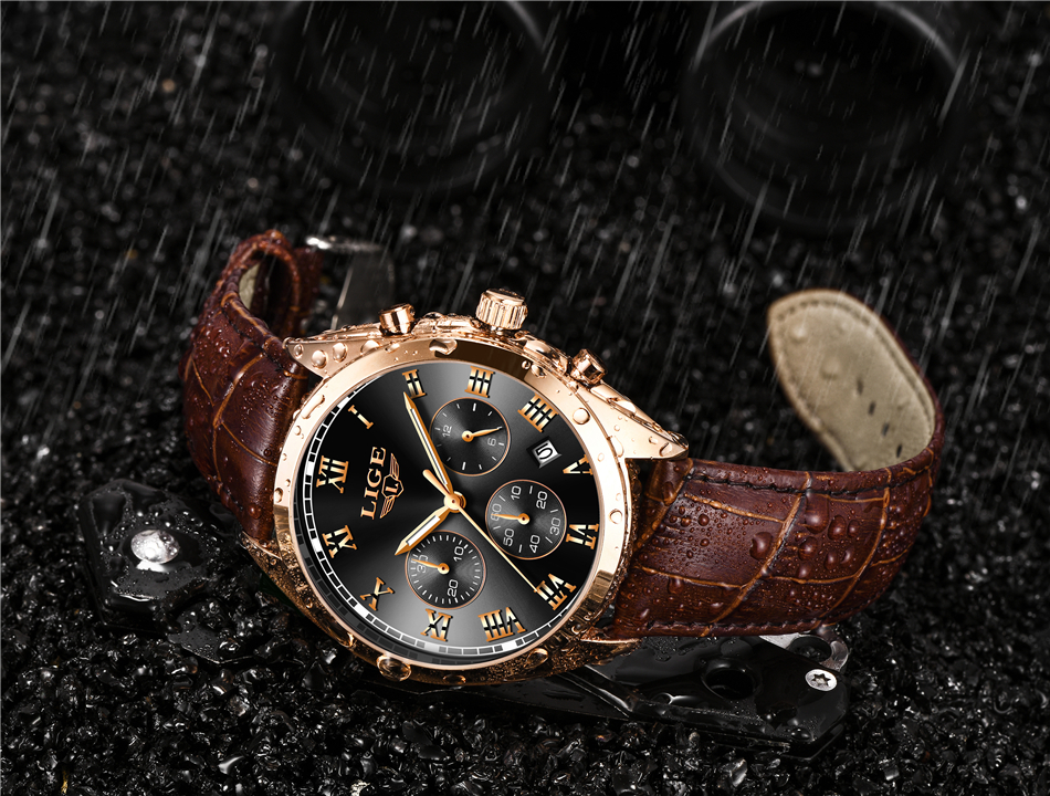 HTB1Pgn0hQUmBKNjSZFOq6yb2XXat 2020 LIGE Mens Watches Top Brand Luxury Waterproof 24 Hour Date Quartz Clock  Male Leather Sport Wrist Watch Relogio Masculino