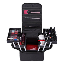 Fashion women's multi-layer Ripa Organizer cosmetic case large-capacity case for makeup bathroom dresser beautician toolbox