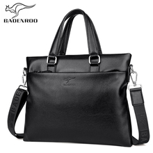 купить Badenroo Fashion Simple Male Handbags Famous Brand Business Men Briefcase Bag Leather Laptop Bag Casual Man Bag Shoulder bags по цене 1552.73 рублей