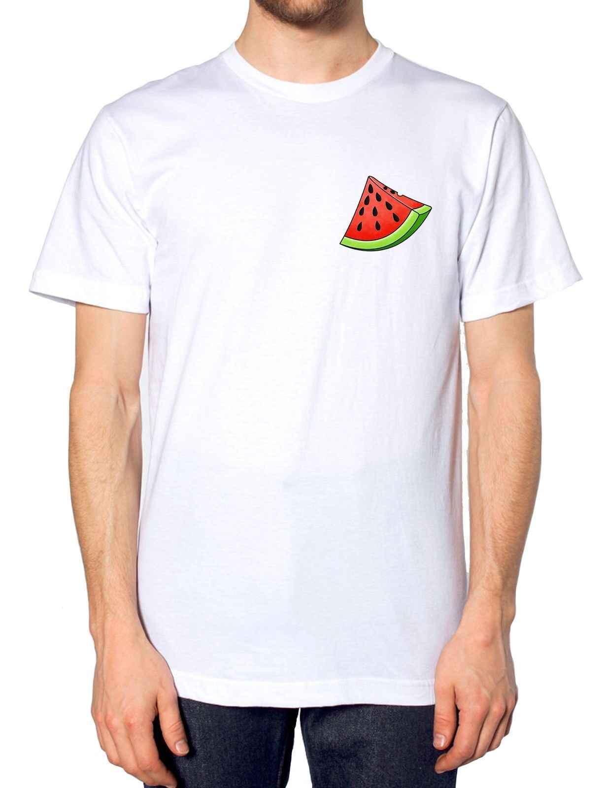 Watermeloen Logo T-shirt Zomer Mode Fruit Gezonde Tumblr Indie Stijl Mens Kidcustom gedrukte t-shirt, hip hop grappige tee