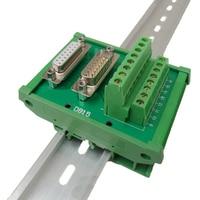 DB15 Male Female Dual Usage D Sub 15 Pin Socket terminal block breakout board adapter DIN Rail