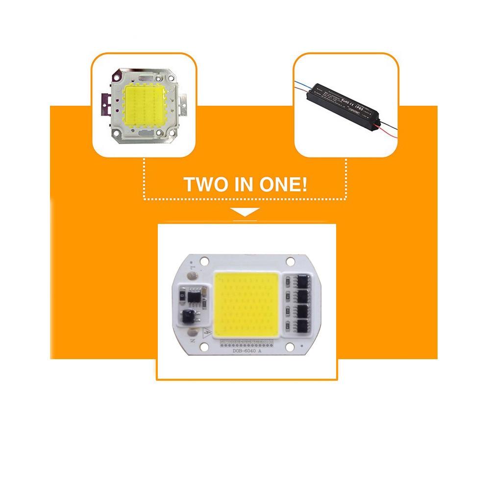 10PCS LOT LED Lamp Chip COB 15W 25W 30W 50W AC220V LED COB Chip Cold Warm White Smart IC For DIY LED Spotlight Floodlight in Light Beads from Lights Lighting