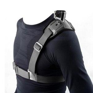 Image 1 - Adjustable Shoulder Strap Mount Harness for Xiaomi Yi Sports Action Cameras Accessories SJCAM SJ4000/SJ5000/SJ6000