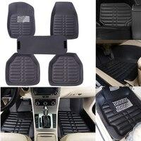 5 Pcs Black 5 Seats Car FloorLiner Carpets Set Floor Mats All Weather Universal