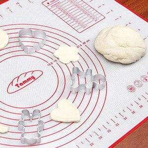 Image 2 - Silikon pişirme Mat yoğurma hamur ped ile ölçekli haddeleme yapışmaz pasta Liner kalıp pişirme mutfak Bakeware aksesuarları