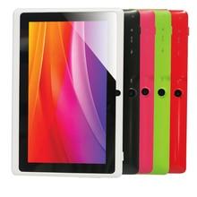 "Envío libre 7 ""Q88 Allwinner A33 Quad Core 1.5 GHz Q88 7 pulgadas Tablet PC 1024×600 de Doble Cámara de 2500 mAh 8 GB"