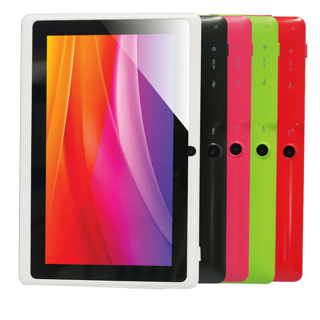 "Free shipping 7"" Q88 Allwinner A33 Quad Core 1.5GHz  Q88 7 inch Tablet PC 1024 x 600 Dual Camera 2500mAh 8GB"