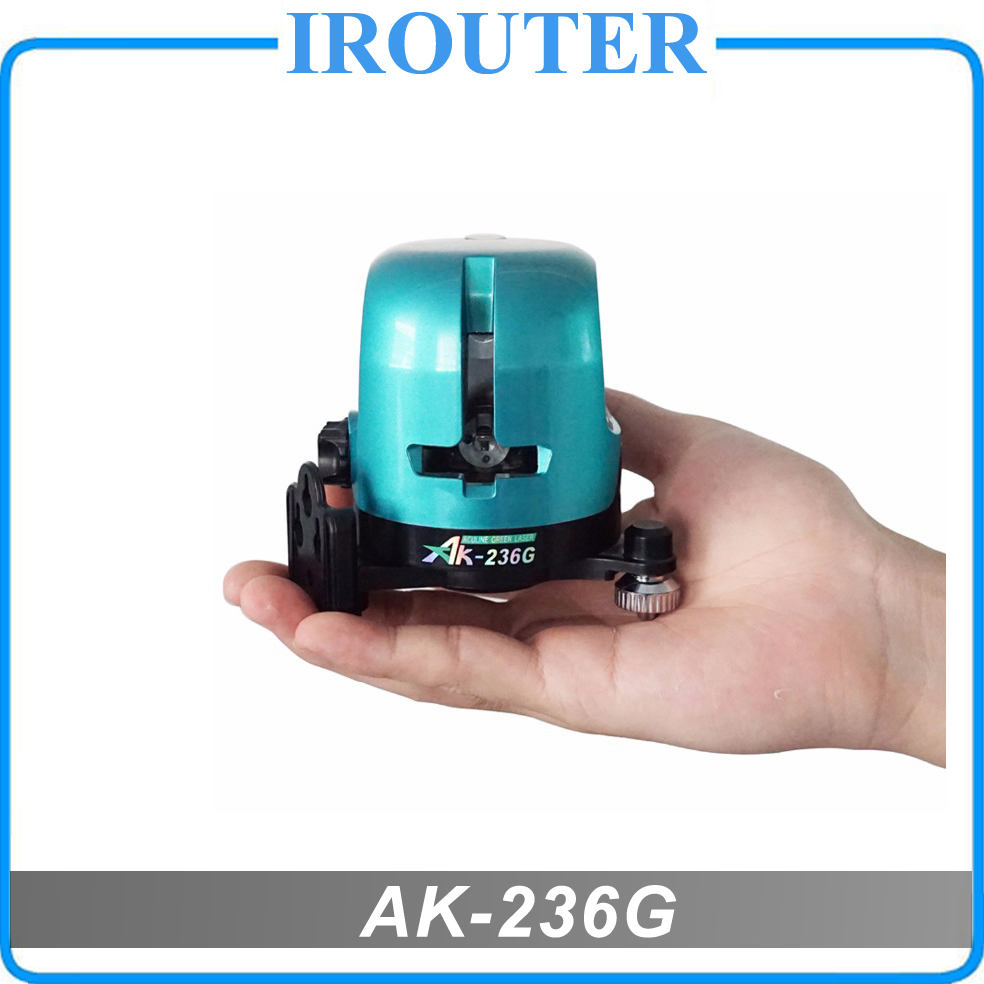 Freesshipping ! AK-236G level , 2 lines green laser level 360 rotary 1V1H horizontal and vertical leveling laser line,AK236G kapro 515 540nm horizontal vertical laser level green color accuracy 0 2mm m model 872g