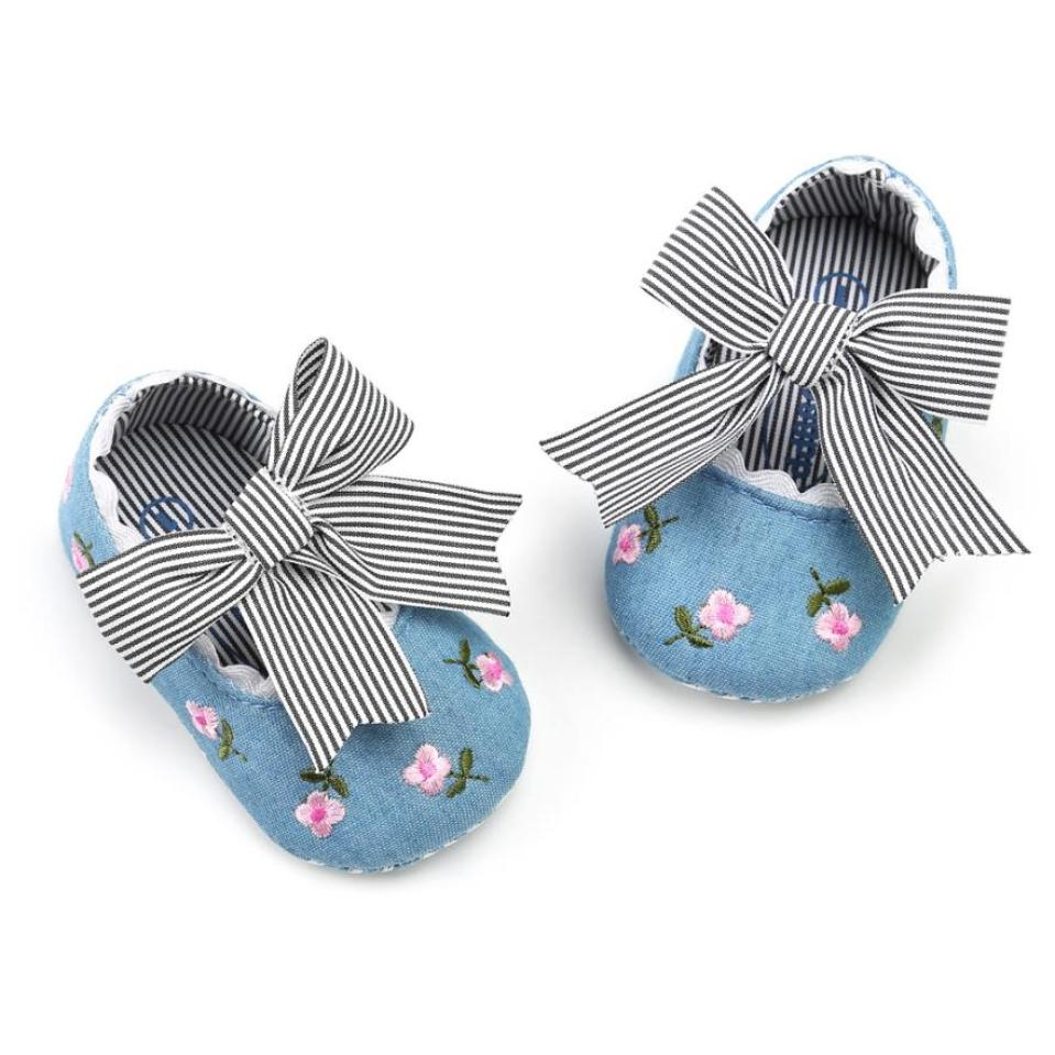 Newborn Baby Girl Embroidery Flower Fashion Toddler First Walkers Kid Shoes Sneakers 3 color in canvas hot sale for babys shoes