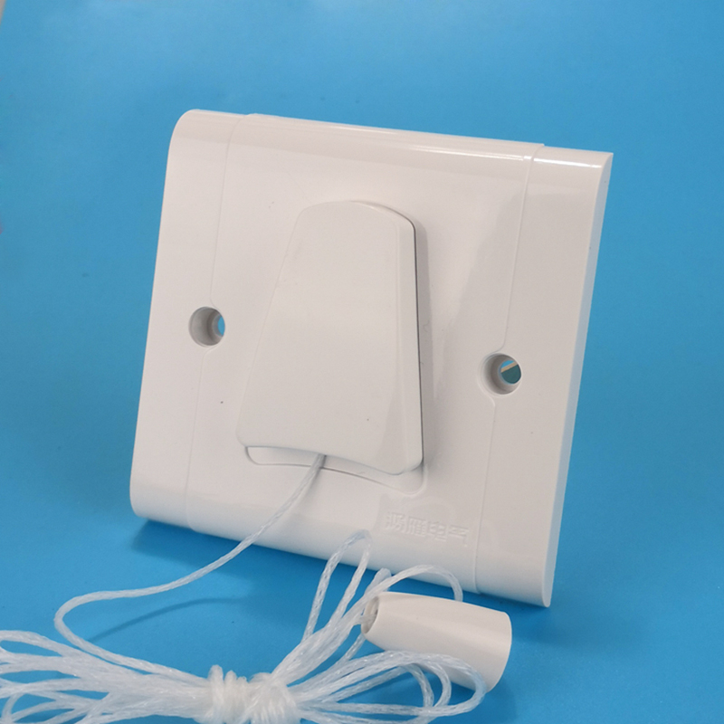 2pcs 86 Type Single-control Pull Wire Switch Household Concealed Wall Rope Cable Lights 6A250V