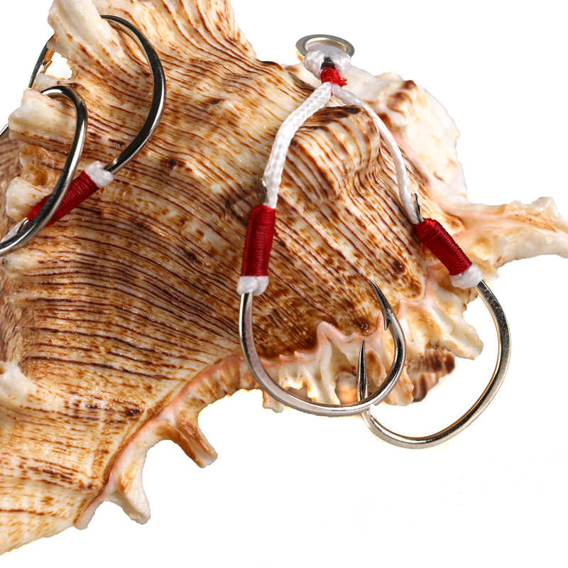 Crochet de gabarit lent Lurekiller crochet de gabarit 2/0 3/0 4/0 5/0 crochet de pêche en mer double assit crochet