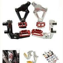 Aluminum CNC Motorcycle Folding Rear Sets Articular Footpeg Foot Peg Footrest Passenger For Honda XADV750 2017 2018 X-ADV 750