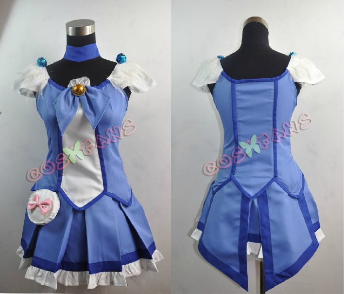 Free shipping Custom Cheap Blue Cure Beauty Cosplay Costume from Smile PreCure